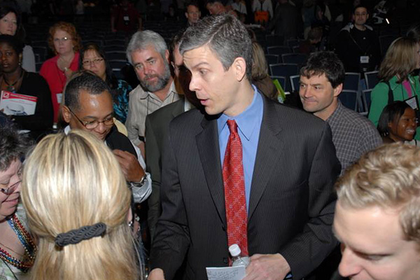 Ken and US Secretary of Education Arne Duncan