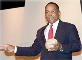 Wesson Holding A Model Of Brain